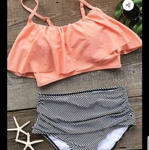 New Cupshe  high waisted bikini size med